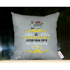 Bride and Groom - Wedding Pillow