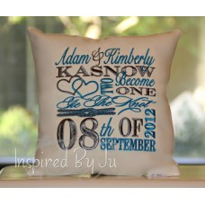 Two Become One - Wedding Pillow