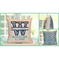 Initial - Wedding Pillow