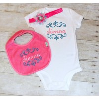 Body Suit with Matching Bib