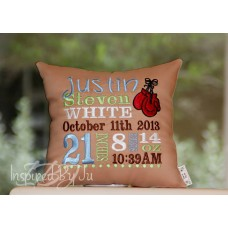 Boxing Gloves - Birth Announcement Pillow