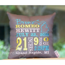 Birth Places - Birth Announcement Pillow