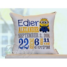 Minion - Birth Announcement Pillow