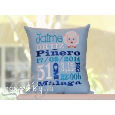 Sheep - Birth Announcement Pillow