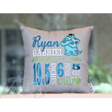 Monster - Birth Announcement Pillow