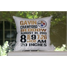 Sports Teams - Birth Announcement Pillow