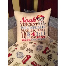 Dalmatian - Birth Announcement Pillow