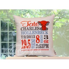 Baby Elephant - Birth Announcement Pillow