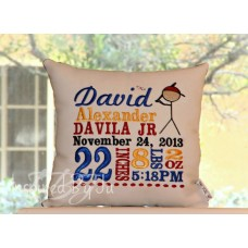 Baseball - Birth Announcement Pillow