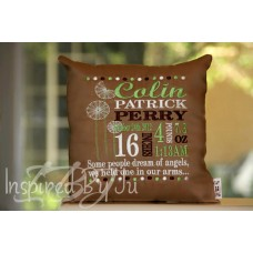Dandelion - Birth Announcement Pillow
