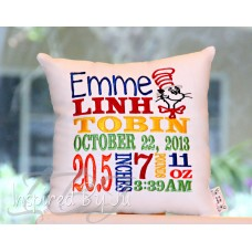 Dr. Seuss - Birth Announcement Pillow