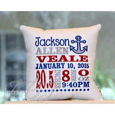 Anchor - Birth Announcement Pillow