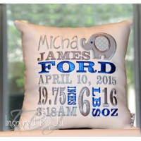 IBJ Boy Elephant - Birth Announcement Pillow