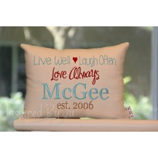 Live Well, Laugh Often - Family Pillow