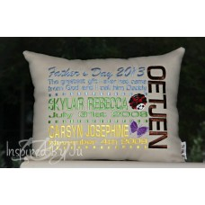 Father's Day Family Pillow