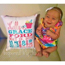 Summer Days - Birth Announcement Pillow