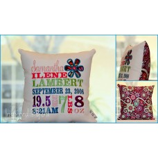 Daisy - Birth Announcement Pillow