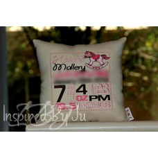 Rocking Horse - Birth Announcement Pillow