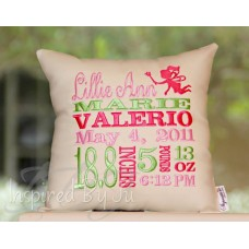 Cupid - Birth Announcement Pillow