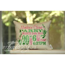 Lazy Flowers - Birth Announcement Pillow