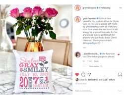 Rose - Birth Announcement Pillow   Gretchen Rossi's Baby's Pillow (Real Housewife of OC)