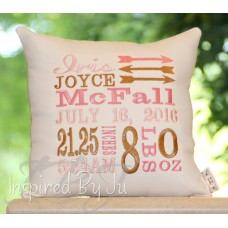 Arrows - Birth Announcement Pillow
