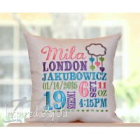 Cute little Love Cloud - Birth Announcement Pillow