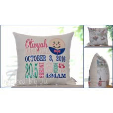 Humpty Dumpty - Birth Announcement Pillow