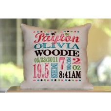 Little Flowers - Birth Announcement Pillow