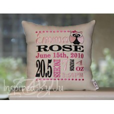 Owl - Birth Announcement Pillow